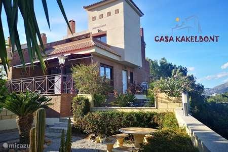 Vakantiehuis Spanje, Costa Blanca, La Nucia geschakelde woning Villa Casa Kakelbont