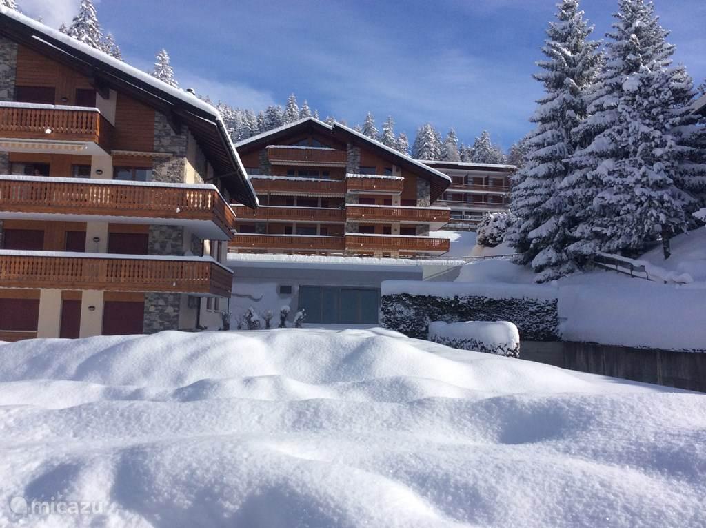 Vakantiehuis Zwitserland, Wallis, Crans Montana appartement New Forest vrij in voorjaarsvacantie