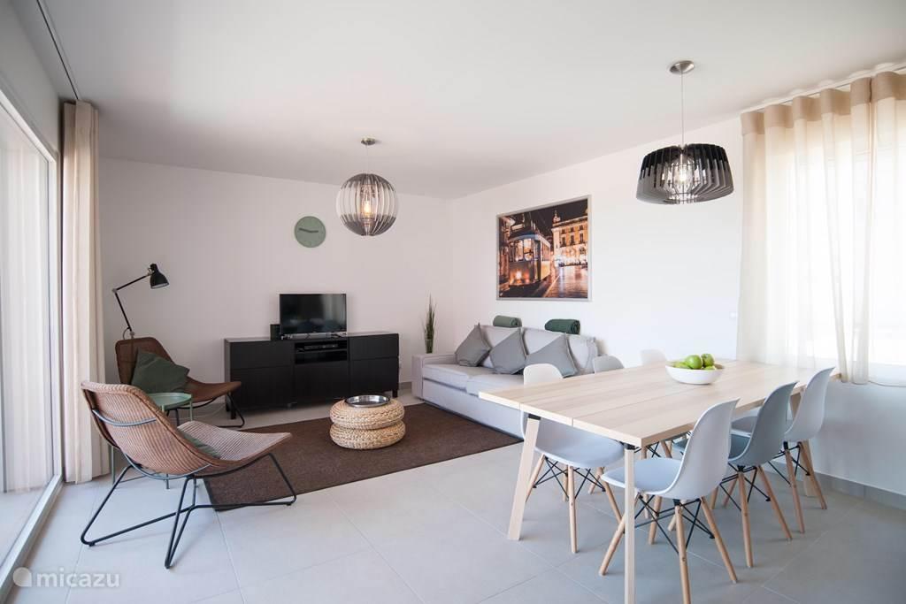 Het woon gedeelte van appartement Lisboa