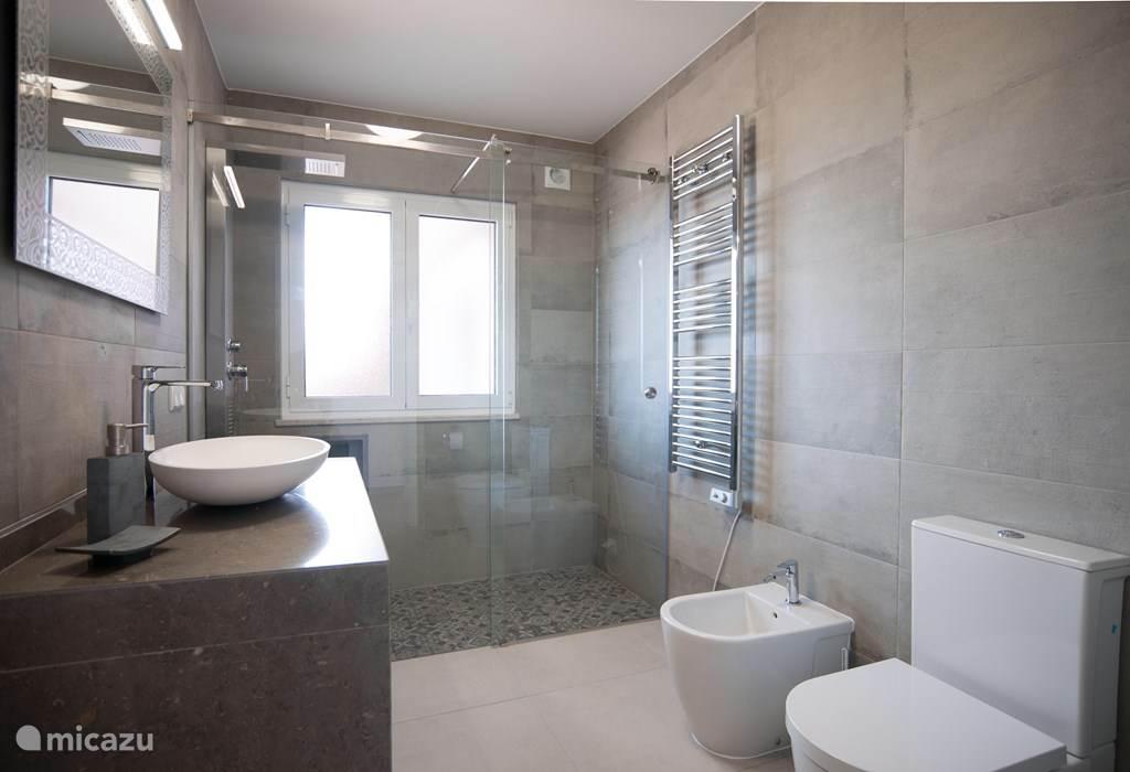 De badkamer van alle luxe voorzien.