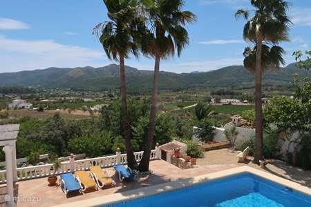 Vakantiehuis Spanje, Costa Blanca, Jalón villa Casa Solvino