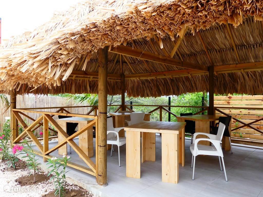 Bij de palapa staat onze BBQ die u gratis kunt gebruiken. Altijd gezellig.