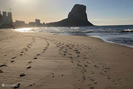 Zonsopkomst strand Calpe