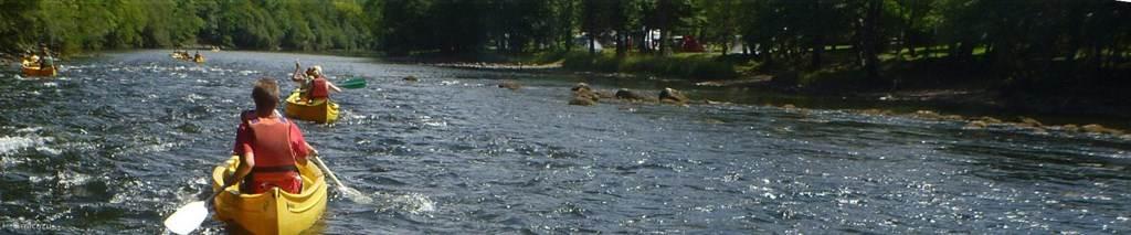 Kanooen op de Dordogne rivier