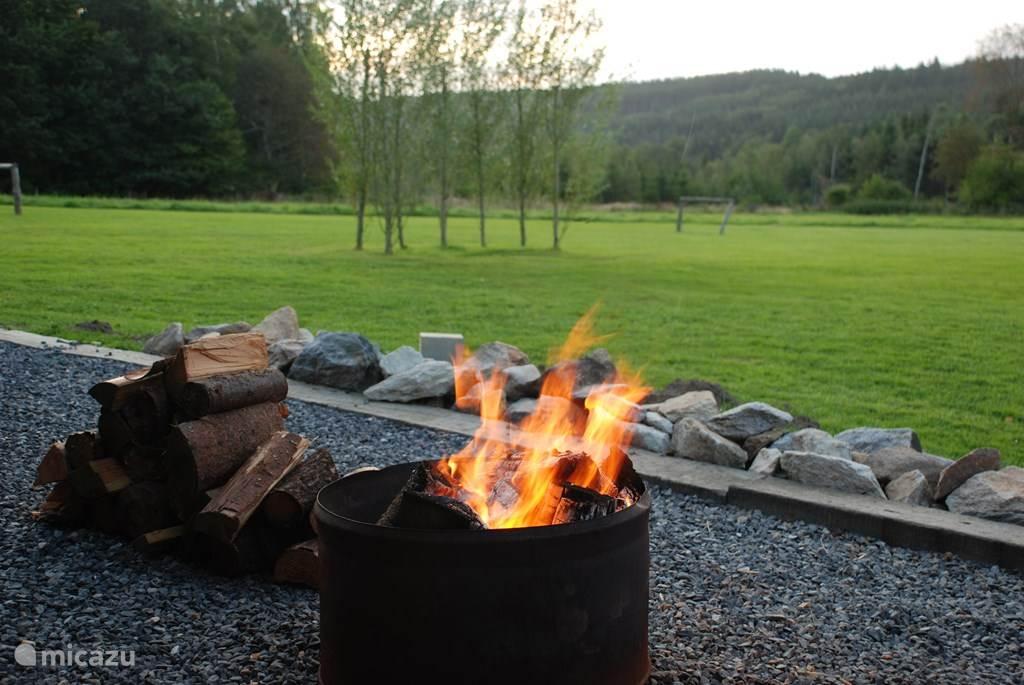 Bonfire in the garden