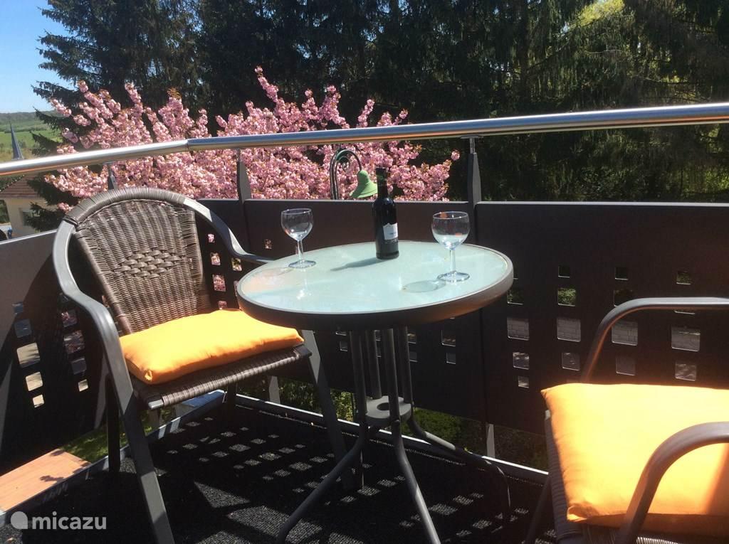 mini terrasje met uitzicht