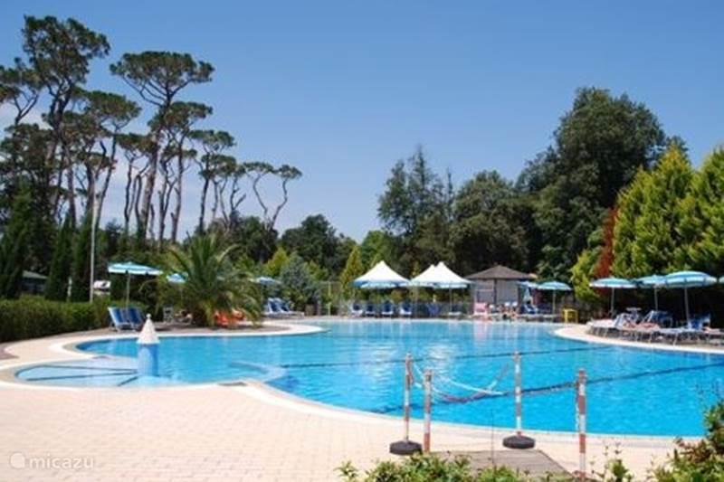 Vakantiehuis Italië, Toscane, Viareggio Stacaravan Familie Camping, Viareggio bij zee