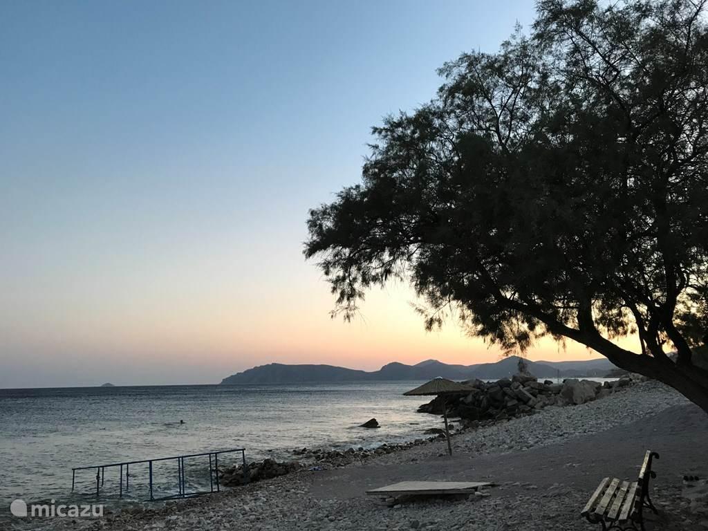 Aan het strand bij Gridia