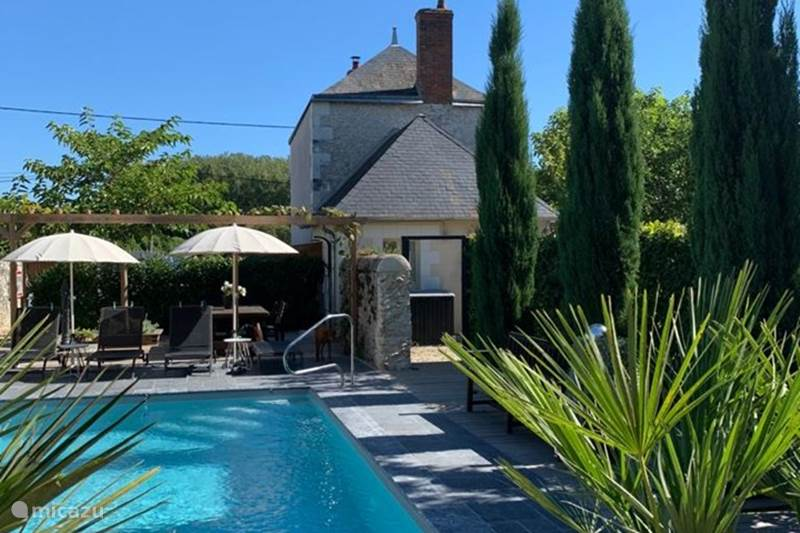 Vakantiehuis Frankrijk, Loir-et-Cher, Pontlevoy Gîte / Cottage La Rose, vrijstaand huis met studio