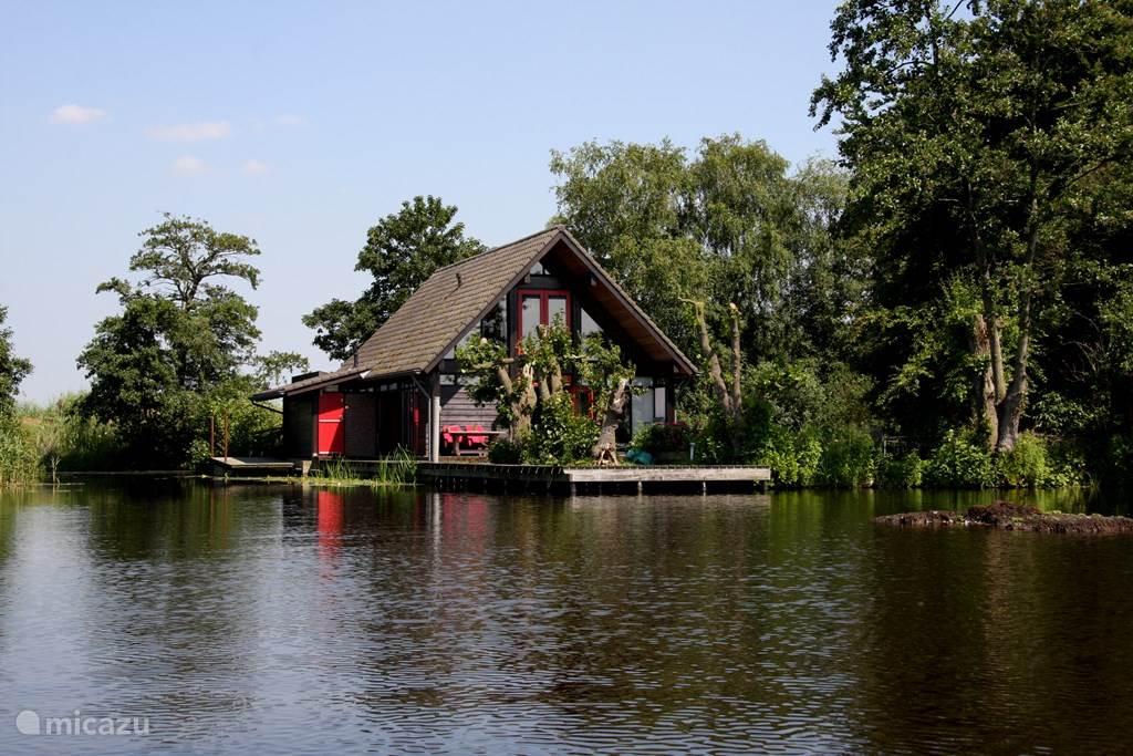 Vakantiehuis Nederland, Zuid-Holland, Reeuwijk vakantiehuis Vakantie-villa (6P+) aan privé-meer