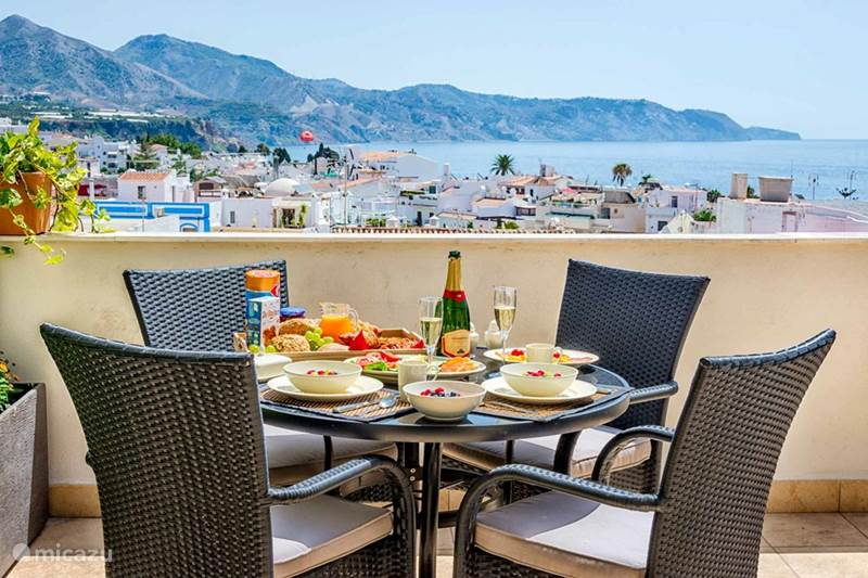 Vakantiehuis Spanje, Costa del Sol, Nerja Penthouse Penthouse Nerja; This is your view