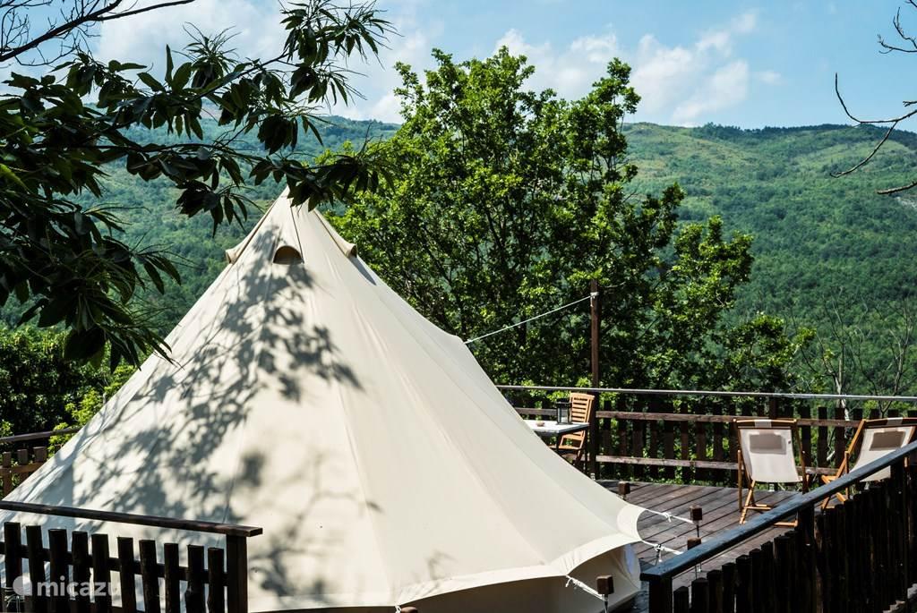 Vakantiehuis Italië, Toscane, Santa Fiora glamping / safaritent / yurt Podere di Maggio - Glamping tent 5