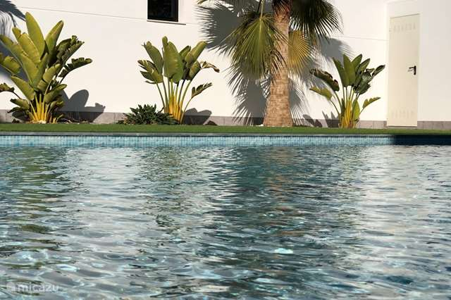 Vakantiehuis Spanje, Costa Cálida – appartement Mar Menor Zee Zwembad en in Centrum