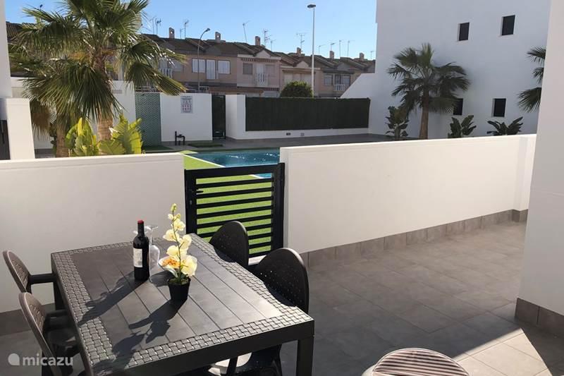 Vakantiehuis Spanje, Costa Cálida, Lo Pagán Appartement Mar Menor Zee Zwembad en in Centrum