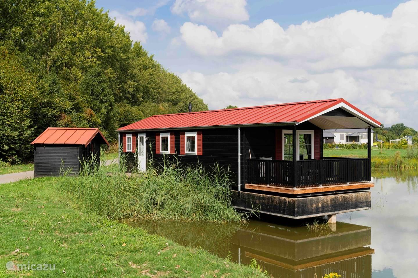 Vakantiehuis Nederland, Gelderland, Enspijk Chalet Chalet op het water in de Betuwe