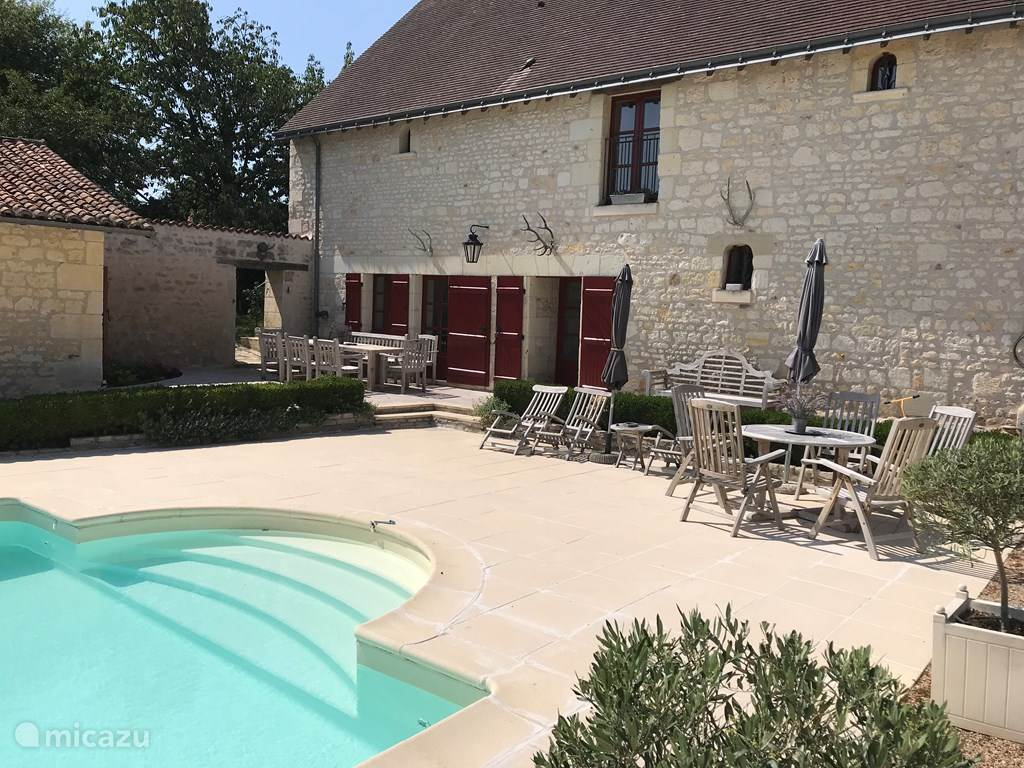 Vakantiehuis Frankrijk, Indre-et-Loire, Chinon Vakantiehuis Gastenhuis van kasteel te huur