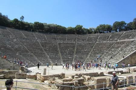 Het grote amfitheater in Lygourio, slechts 10 minuten van Villa RENA