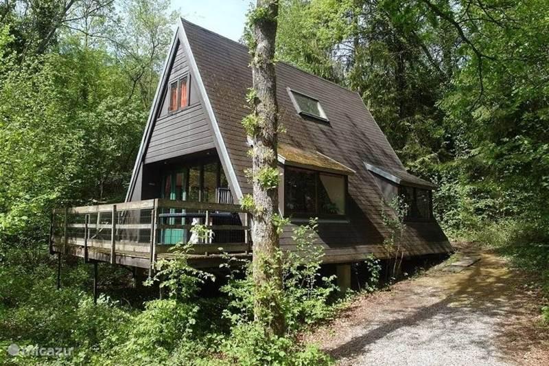 Vakantiehuis België, Ardennen, Durbuy Bungalow Boshuisje 175 Ardennen Durbuy +Wifi