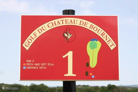 Golfbaan Chateau de Bournet in Grospierres