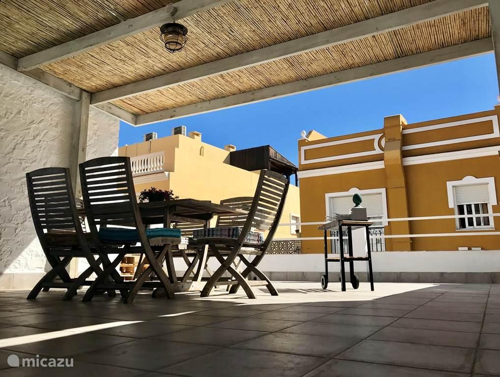 Vakantiehuis Spanje, Costa del Sol, Malaga Vakantiehuis Family Beachhouse, 2bikes, Terras