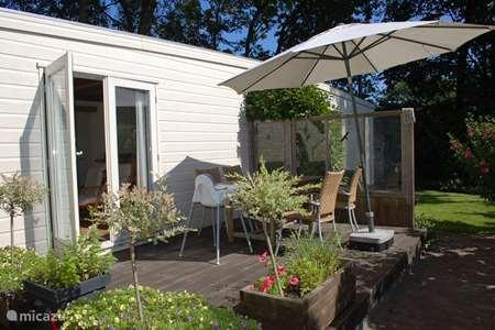 Vakantiehuis Nederland, Zuid-Holland, Wassenaar stacaravan Chalet op Camping Duinhorst