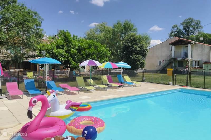 Vakantiehuis Frankrijk, Aude, Saint-Papoul Vakantiehuis Gîte du Métayer met verwarmd zwembad