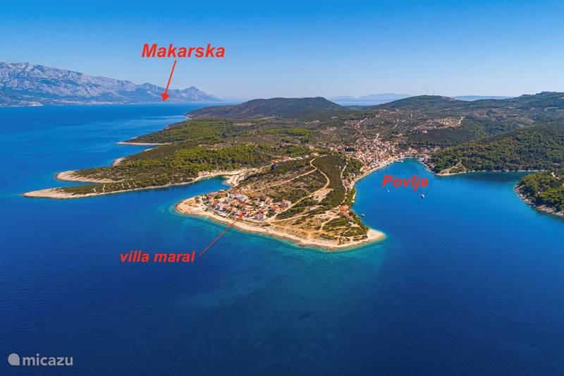 Vacation rental Croatia, Brac, Povlja Apartment Villa Maral Povlja on Brac App 2