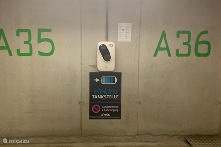 Charging station in our car park on level A