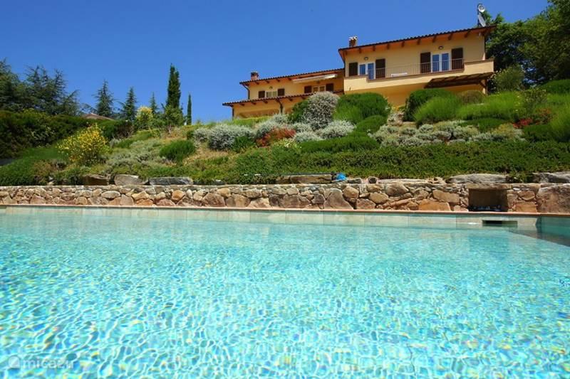 Vakantiehuis Italië, Umbrië, Tuoro sul Trasimeno Villa Villa Sopra, privé voor 10 personen
