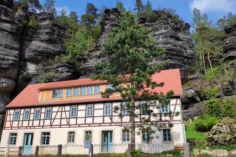 Vakantiehuis Duitsland, Saksen, Rosenthal-Bielatal Appartement Felsenkeller Bielatal Nachbar