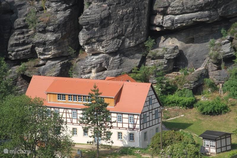 Vakantiehuis Duitsland, Saksen, Rosenthal-Bielatal Appartement Felsenkeller Bielatal Sachsenstein