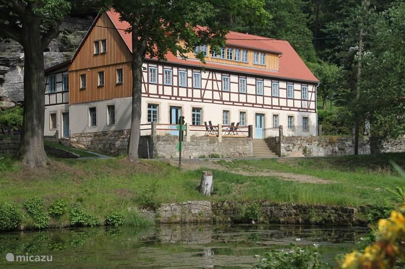 Ferienwohnung Deutschland, Sachsen, Rosenthal-Bielatal Appartement Felsenkeller Bielatal Berthablick