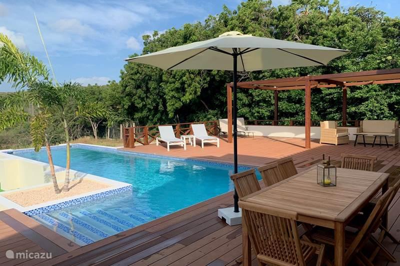 Vakantiehuis Curaçao, Banda Abou (west), Tera Pretu Vakantiehuis Rancho met zwembad geweldig uitzicht