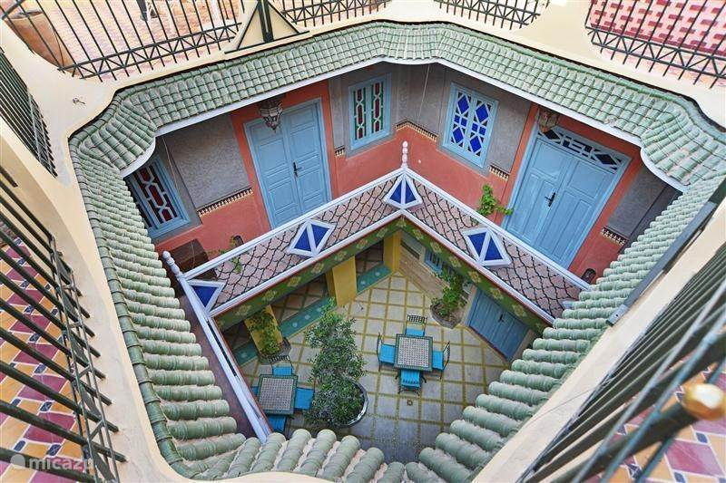 Vakantiehuis Marokko, Marrakech, Marrakech Bed & Breakfast Kamer 2.  Mellah (Riad Aicha - M)