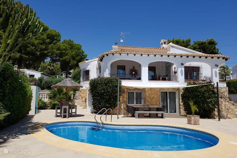 Vakantiehuis Spanje, Costa Blanca, Moraira Villa Casa Los Isleños t/m 8 personen.