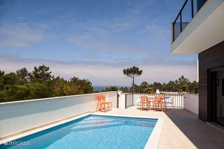 Vakantiehuis Portugal, Costa de Prata, Nazaré villa Casa terra nova-zeezicht-zandstrand