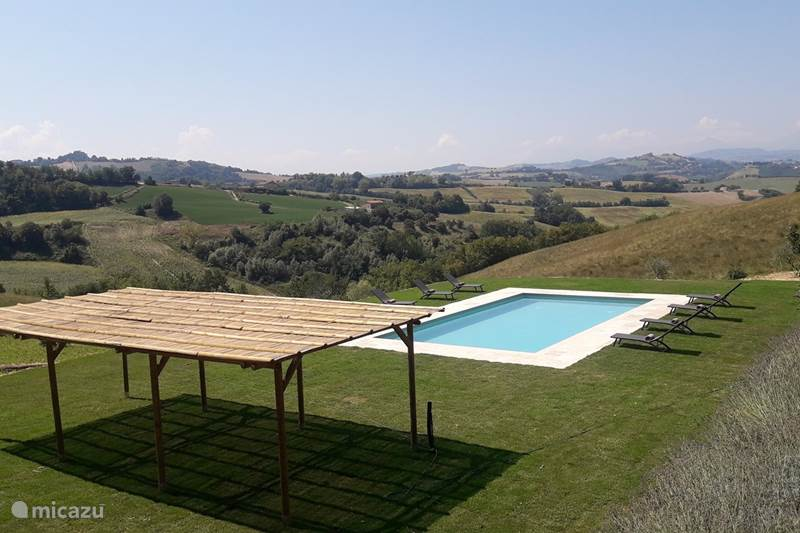 Vakantiehuis Italië, Marche, Petritoli Appartement Casa Bellini: Appartement Oliva