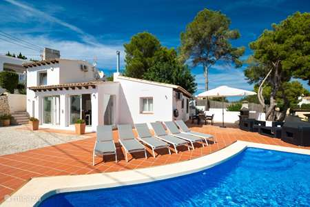 Vacation rental Spain, Costa Blanca, Moraira villa Los Pajaros Holiday villa 2-4 pers
