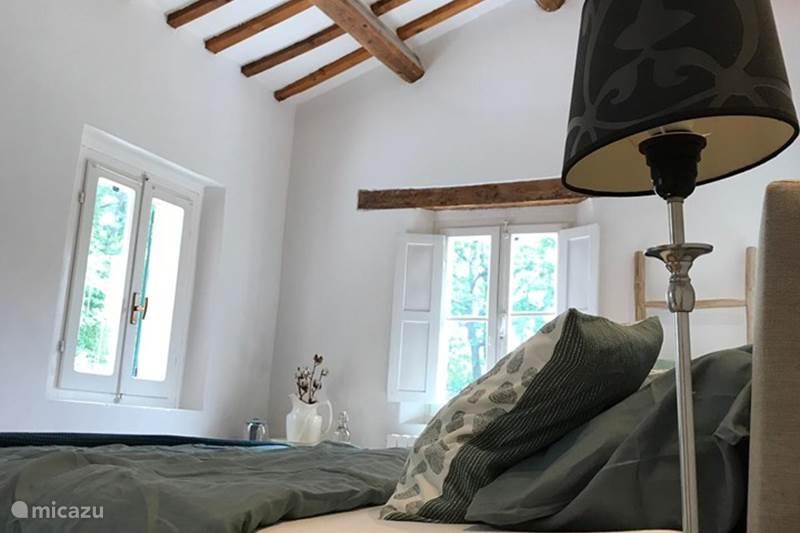 Vakantiehuis Italië, Marche, Santa Maria Nuova Bed & Breakfast Il Posto Perfetto-B&B room verde