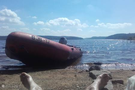lekker weg op de lege Zweedse meren