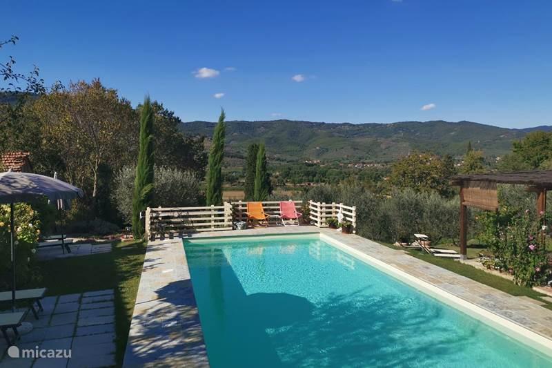 Vakantiehuis Italië, Toscane, Castiglion Fiorentino Vakantiehuis Casale le Colonne, Villetta La Valle