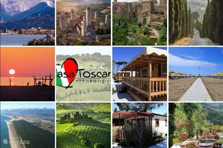 Vakantiehuis Italië, Toscane, Viareggio stacaravan Italië Toscane Stacaravan aan Zee!