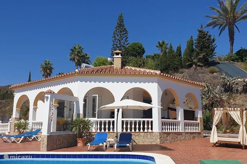 Vakantiehuis Spanje, Costa del Sol, Torrox Vakantiehuis Casa Mirador, zeezicht, privé, luxe