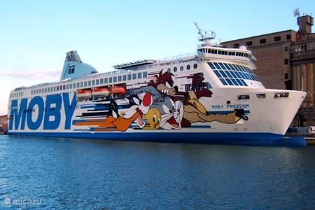 Veerboten naar Sardinie.