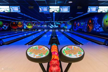 Mini-gofbaan en tennis, bowlingcenter : Centerparcs