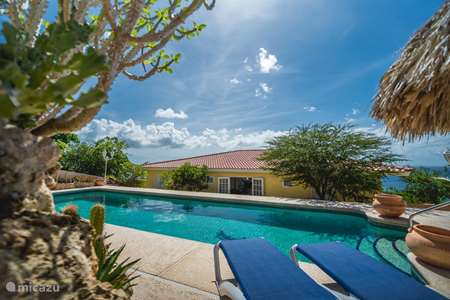 Vacation rental Curaçao, Banda Abou (West), Cas Abou villa Cariblue 180 ° sea view and Magna pool