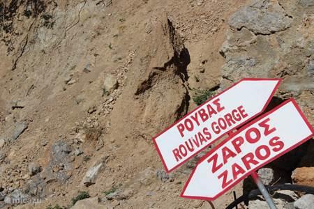 Zaros, een dorp in de bergen, waar je ook mooie wandelingen kunt maken.