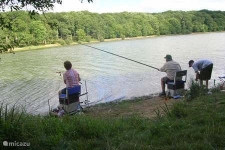 sportvissen bij de meren, ook een meer aan het einde van de straat