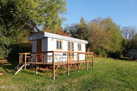 Vakantiehuis Frankrijk, Creuse, Nouhant chalet Pipowagen 'Cabane'