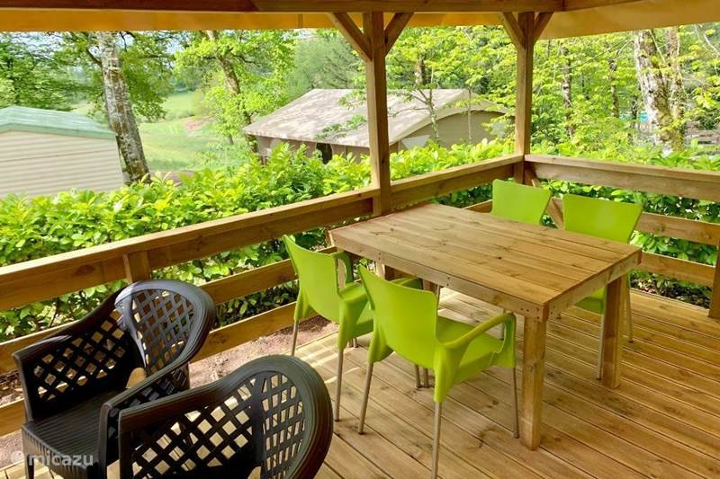 Vakantiehuis Frankrijk, Dordogne, Champs-Romain Stacaravan Mobile home | Camping ****| Dordogne